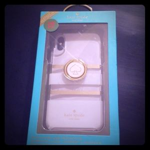 Kate Spade iPhoneX Ring Stand & Hardshell Case NEW